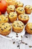 σπιτική muffins κολοκύθα Στοκ εικόνες με δικαίωμα ελεύθερης χρήσης
