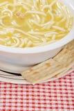σπιτική noodle κοτόπουλου σ&omicron Στοκ Φωτογραφία