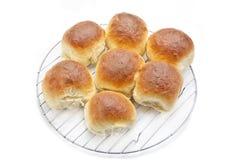 Σπιτικοί ρόλοι ψωμιού Στοκ φωτογραφία με δικαίωμα ελεύθερης χρήσης