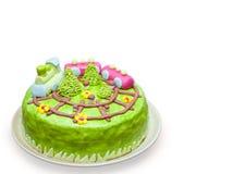 Σπιτικός κέικ που απομονώνεται Στοκ φωτογραφία με δικαίωμα ελεύθερης χρήσης