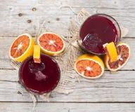 Σπιτικός χυμός από πορτοκάλι αίματος Στοκ φωτογραφία με δικαίωμα ελεύθερης χρήσης