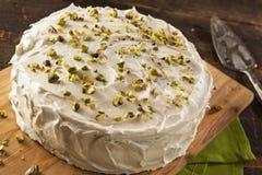 Σπιτικό γαστρονομικό κέικ φυστικιών Στοκ εικόνες με δικαίωμα ελεύθερης χρήσης