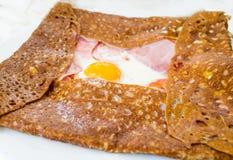 Σπιτικό γαλλικό galette φαγόπυρου Στοκ Εικόνες