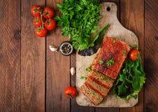Σπιτικό επίγειο meatloaf με τα λαχανικά Στοκ Εικόνα