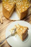 Σπιτικό κέικ φυστικιών στο ξύλινο υπόβαθρο Εκλεκτική εστίαση τόνος Στοκ φωτογραφίες με δικαίωμα ελεύθερης χρήσης