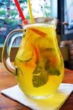 Σπιτικό κοκτέιλ λεμονάδας πορτοκαλί λεμόνι μεντών ασβέστη Στοκ Εικόνα