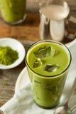 Σπιτικό παγωμένο τσάι Matcha Latte Στοκ εικόνες με δικαίωμα ελεύθερης χρήσης