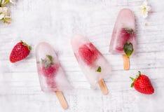 Σπιτικό ραβδί φρούτων popsicle Στοκ Φωτογραφίες