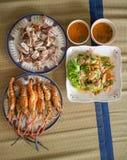 Σπιτικό σύνολο μεσημεριανού γεύματος θαλασσινών Στοκ φωτογραφία με δικαίωμα ελεύθερης χρήσης