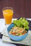 Σπιτικό τηγανισμένο ρύζι Στοκ Φωτογραφίες