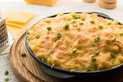 Σπιτικό υγιές μεσημεριανό γεύμα - Mac-ν-τυρί στοκ εικόνες με δικαίωμα ελεύθερης χρήσης