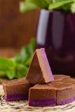 Σπιτικό φοντάν σοκολάτας και σταφίδων Στοκ Εικόνες