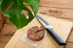 Σπιτικό φοντάν σοκολάτας με τη γεύση μπανανών Στοκ Φωτογραφίες