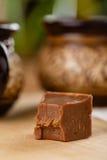 Σπιτικό φοντάν σοκολάτας με τη γεύση μπανανών Στοκ Εικόνες