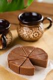 Σπιτικό φοντάν σοκολάτας με τη γεύση μπανανών Στοκ φωτογραφία με δικαίωμα ελεύθερης χρήσης