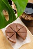 Σπιτικό φοντάν σοκολάτας με τη γεύση μπανανών Στοκ εικόνα με δικαίωμα ελεύθερης χρήσης
