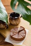 Σπιτικό φοντάν σοκολάτας με τη γεύση μπανανών Στοκ Φωτογραφία