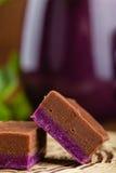Σπιτικό φοντάν σοκολάτας και σταφίδων Στοκ φωτογραφίες με δικαίωμα ελεύθερης χρήσης