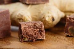 Σπιτικό φοντάν σοκολάτας με την πιπερόριζα Στοκ Εικόνες