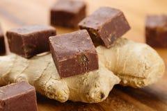 Σπιτικό φοντάν σοκολάτας με την πιπερόριζα Στοκ φωτογραφία με δικαίωμα ελεύθερης χρήσης