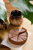 Σπιτικό φοντάν σοκολάτας με τη γεύση μπανανών Στοκ Εικόνα