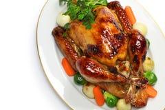 Σπιτικό ψητό Τουρκία, γεύμα Χριστουγέννων ημέρας των ευχαριστιών Στοκ εικόνες με δικαίωμα ελεύθερης χρήσης
