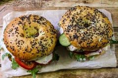 Σπιτικό burger κοτόπουλου Στοκ Εικόνες