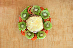 Σπιτικό burger τυρί Στοκ Εικόνες
