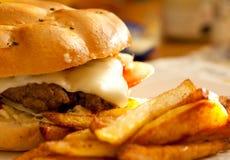 Σπιτικό burger στοκ φωτογραφίες