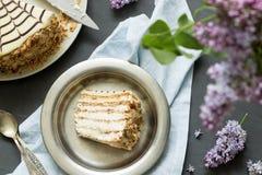 Σπιτικό esterhazy κέικ torte Στοκ Φωτογραφία