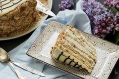 Σπιτικό esterhazy κέικ torte Στοκ φωτογραφία με δικαίωμα ελεύθερης χρήσης