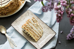 Σπιτικό esterhazy κέικ torte Στοκ εικόνες με δικαίωμα ελεύθερης χρήσης