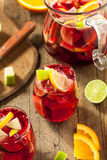Σπιτικό Fruity ισπανικό κόκκινο Sangria Στοκ εικόνα με δικαίωμα ελεύθερης χρήσης