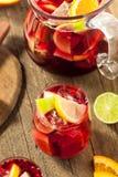 Σπιτικό Fruity ισπανικό κόκκινο Sangria Στοκ φωτογραφία με δικαίωμα ελεύθερης χρήσης