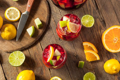 Σπιτικό Fruity ισπανικό κόκκινο Sangria Στοκ Εικόνες