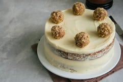 Σπιτικό fruity κέικ κολιβρίων με τα καρυκεύματα και τα καρύδια πεκάν, Rus στοκ φωτογραφία με δικαίωμα ελεύθερης χρήσης