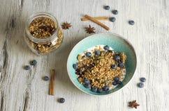 Σπιτικό granola με το ξηρό το βακκίνιο Στοκ Εικόνες