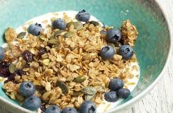 Σπιτικό granola με το ξηρό το βακκίνιο στοκ φωτογραφία