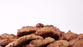 σπιτικό oatmeal μπισκότων απόθεμα βίντεο