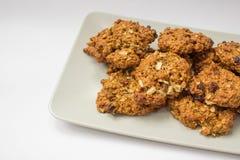 σπιτικό oatmeal μπισκότων στοκ εικόνες