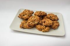 σπιτικό oatmeal μπισκότων στοκ εικόνα με δικαίωμα ελεύθερης χρήσης
