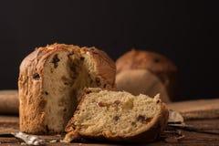 Σπιτικό panettone Χριστούγεννα ιταλικά κέικ Στοκ φωτογραφίες με δικαίωμα ελεύθερης χρήσης
