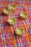Σπιτικό Pasteis de nata, επιδόρπιο της Πορτογαλίας στοκ φωτογραφία