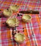 Σπιτικό Pasteis de nata, επιδόρπιο της Πορτογαλίας στοκ εικόνα με δικαίωμα ελεύθερης χρήσης
