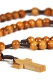 σπιτικό rosary ξύλινο Στοκ φωτογραφία με δικαίωμα ελεύθερης χρήσης