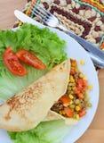 Σπιτικό tortilla περικάλυμμα Στοκ Φωτογραφίες