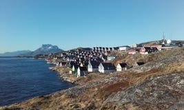 Σπιτιού του Νουούκ sermitsiaq Στοκ φωτογραφία με δικαίωμα ελεύθερης χρήσης