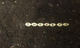 Σπορά των σπόρων της επιτυχίας Στοκ Φωτογραφία