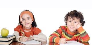 σπουδαστές δύο αδελφών Στοκ εικόνες με δικαίωμα ελεύθερης χρήσης