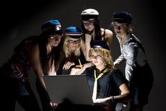 σπουδαστές μοντέρνοι στοκ εικόνα με δικαίωμα ελεύθερης χρήσης